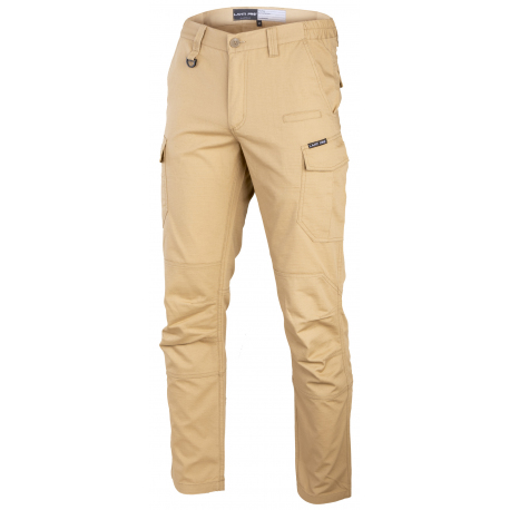 Spodnie bojówki beżowe slim fit Lahti Pro L40521