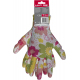 Rękawice ogrodowe damskie różowe kwiatki nitryl Lahti Pro L2217