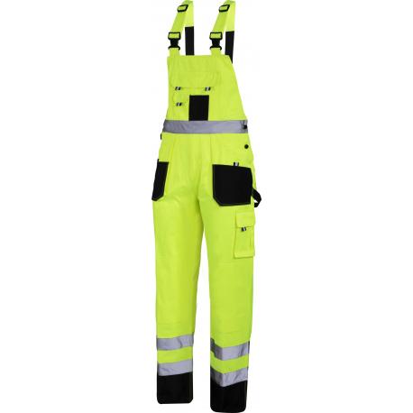 Spodnie ogrodniczki ostrzegawcze robocze żółte Lahti Pro L40614