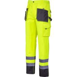 Spodnie robocze do pasa ostrzegawcze żółte Lahti Pro L40525