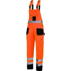 Spodnie ogrodniczki ostrzegawcze robocze pomarańczowe Lahti Pro L40615