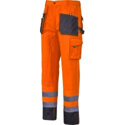 Spodnie robocze do pasa ostrzegawcze pomarańczowe Lahti Pro L40526