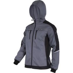 Bluza robocza ochronna z kapturem szara Slim-Fit Lahti Pro L40418