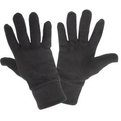 Zimowe rękawice polarowe ochronne robocze ocieplane czarne Lahti Pro L2518
