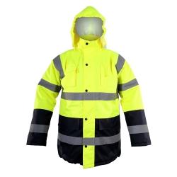 Zimowa kurtka ostrzegawcza ocieplana żółta LahtiPro L40907