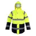 Zimowa kurtka ostrzegawcza ocieplana żółta Lahti Pro L40907