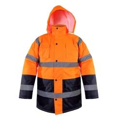 Zimowa kurtka ostrzegawcza ocieplana pomarańcz EN ISO 20471 LahtiPro L40906