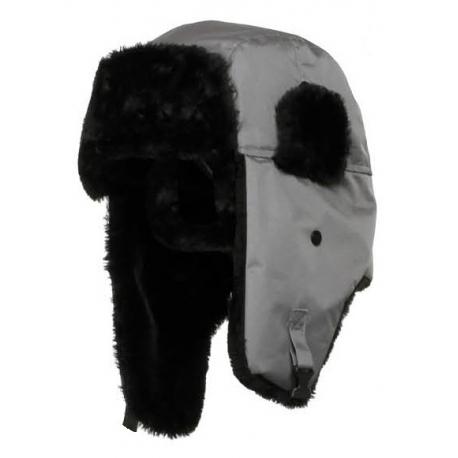 Zimowa czapka uszanka szara 12szt. LahtiPro L1020100