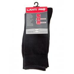 Skarpety robocze cienkie czarne, rozmiar 43-46, 3 pary Lahti Pro
