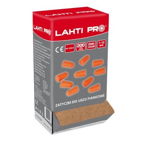 Zatyczki do uszu piankowe 200par LahtiPro L171010D