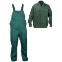 Komplet ubranie robocze zielone bluza ogrodniczki Lahti Pro QUEST LPQA