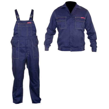 Work clothes navy blue sweatshirt plus a set of overalls