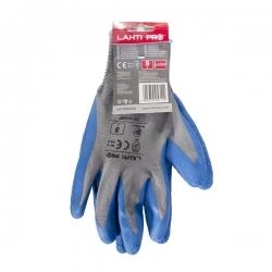 Protective latex gloves blue-gray Lahti Pro