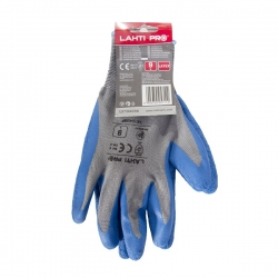 Rękawice lateks ochronne niebieskie szare LahtiPro L2104
