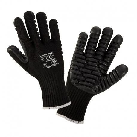 Rękawice antywibracyjne czarne rozmiar 10 LAHTIPRO