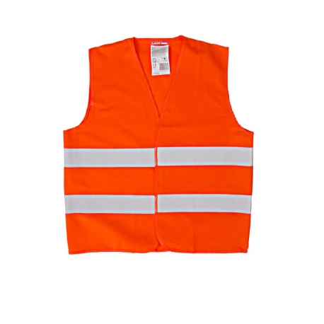 Orange reflective vest for kids 4-6 years LahtiPro