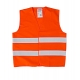 Orange reflective vest for kids 7-9 years LahtiPro