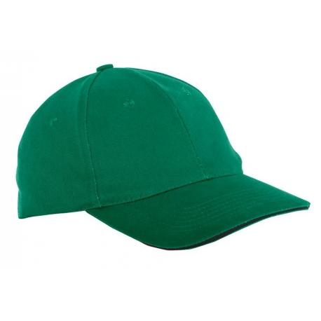 Czapka z daszkiem bawełniana zielona 12 sztuk LahtiPro