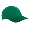 Czapki z daszkiem bawełniane zielone 12szt LahtiPro L1816300