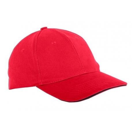 Czapka z daszkiem bawełniana czerwona 12szt LahtiPro