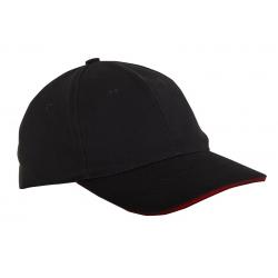 Czapki z daszkiem bawełniane czarne 12szt LahtiPro L1812300