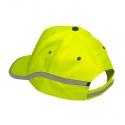 Czapki z daszkiem odblaskowe żółte 12szt LahtiPro L1010200