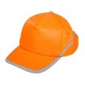 Czapki z daszkiem odblaskowe pomarańczowe 12szt LahtiPro L1010100