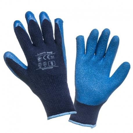Rękawice ocieplane lateksowe niebieskie LahtiPro L2501