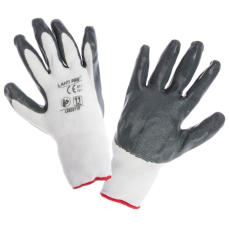 Gloves coated with nitrile 12 pairs LahtiPro L22030