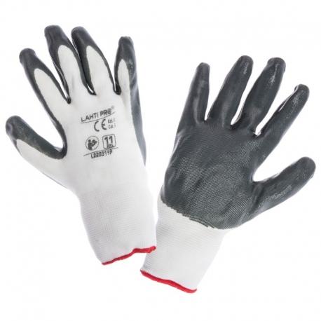 Rękawice ochronne powlekane nitrylem 12par LahtiPro L22030