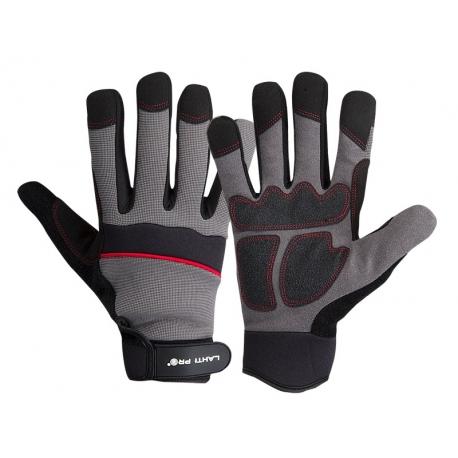 Rękawice warsztatowe wzmocnione elementami PVC LahtiPro L2809