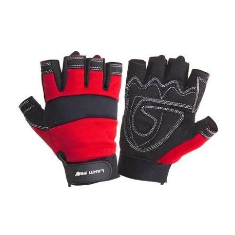 Rękawice warsztatowe bez palców z poduszką chroniącą przed odciskami Lahti Pro L2806
