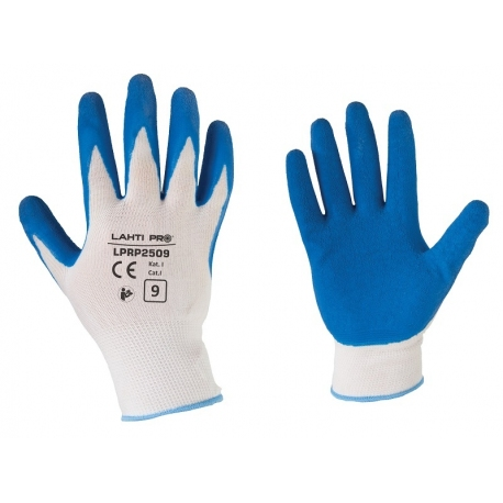 Latex coated protective gloves 12pcs Lahti Pro L2105