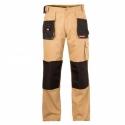 Spodnie robocze monterskie do pasa ochronne beżowe Lahti Pro L40501