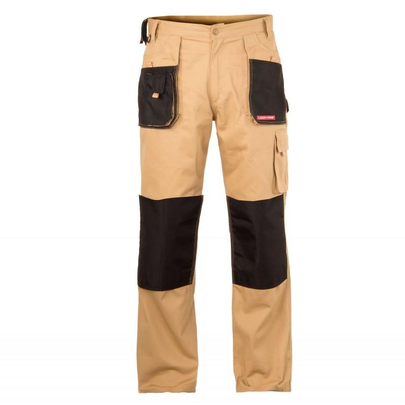 Spodnie robocze monterskie do pasa ochronne beżowe Lahti Pro