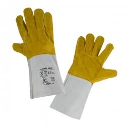Rękawice spawalnicze ochronne ze skóry żółte LahtiPro L2704