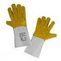 Rękawice spawalnicze ochronne ze skóry żółte Lahti Pro L270411K