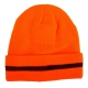 Zimowe czapki akrylowe z polarem pomarańczowe 12szt, LahtiPro L1938100