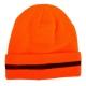 Zimowe czapki akrylowe z polarem pomarańczowe 12szt. LahtiPro