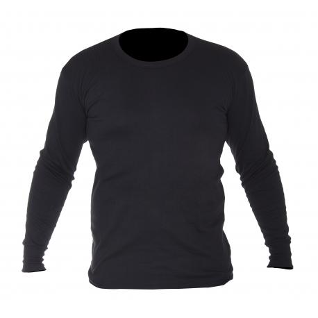 Zimowa koszulka z długim rękawem ocieplana czarna Lahti Pro LPKT1