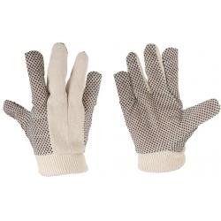 Rękawice ochronne z drelichu nakrapiane LahtiPro LPRN0199