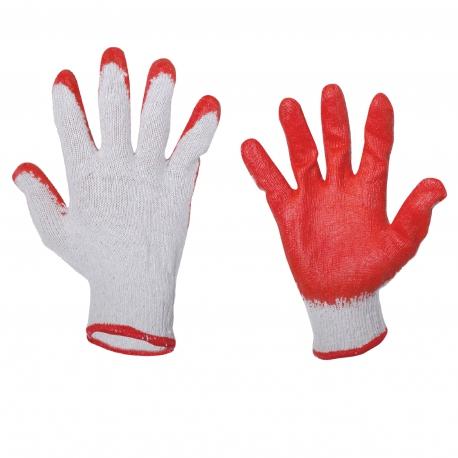Rękawice ochronne wampirki robocze lateks 12 par r.9 LahtiPro L210609W